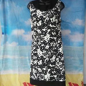 Kim Rogers Black and white print dress size 18